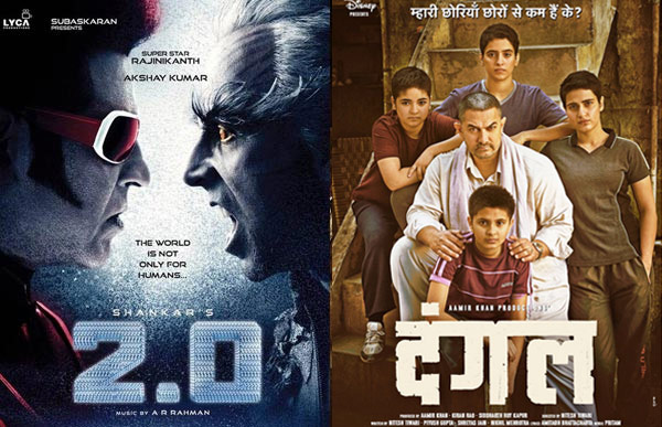 2.0 Versus Dangal Box Office Collection
