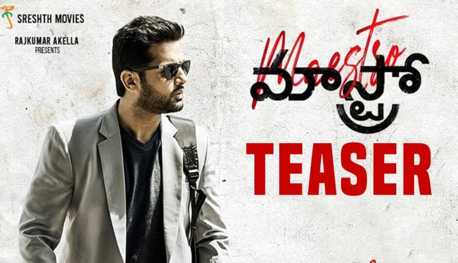 Nithin and Naba Natesh Maestro Movie News and Release Date Information